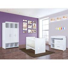 Babyzimmer Mexx 5-tlg. in der Farbe Hochglanz Weiss mit 3 türigem Kleiderschrank