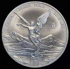 2016 Mexico 1 Ounce ONZA LEY .999 Silver Libertad Coin PLATA PURA (05778)
