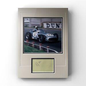 Stirling Moss - British Formula 1 & Racing Legend Signed Display