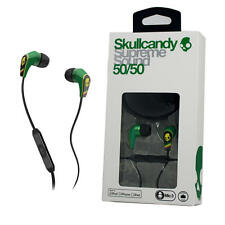 Skullcandy 50/50 For Apple iPhone Ipad iPod with Remote/MIC Rasta Green Jamaica