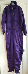Vintage Champion sport purple all in one ski suit snow suit jumpsuit 14