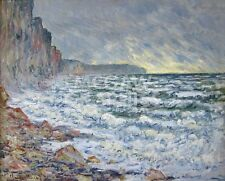 """MONET CLAUDE - FECAMP, BORD DE MER, 1881 - ART PRINT POSTER 11"""" X 14"""" (2603)"""