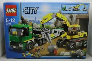 LEGO City Excavator Transport (4203) Complete & boxed