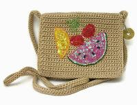 THE SAK Crocheted & Embellished Fruit SMALL Crossbody Purse Shoulder Bag-A++