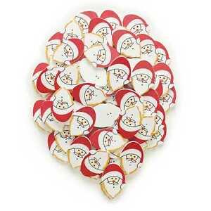 10pcs Christmas Series Santa Claus Wood Buttons Sewing Scrapbook Cloth Handwork