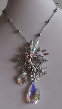 Pin Pendant In Silver Tone Kirks Folly Christmas Snowflake Delphine Fairy