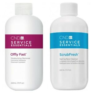 CND Offly Fast Remover 222ml & Scrubfresh 222ml SUITABLE FOR GEL NAIL REMOVAL