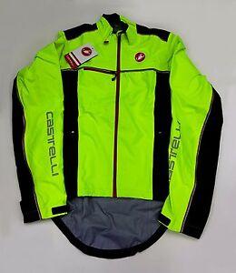 Castelli Winter Sella Rain Waterproof Men's Cycling Jacket Yellow Fluo Black S