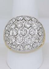 MENS 10k YELLOW GOLD 4.86ct LARGE DIAMOND KENTUCKY CLUSTER ROUND RING 13.6g