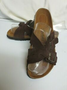 BARELY WORN  Betula By Birkenstock Size 39 / 8 Brown Suede Buckle Sandals