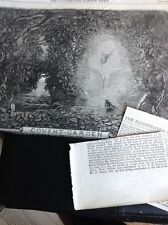 J1-6 Ephemera 1863 Folded Article Pantomime Covent Garden & Review Beauty & The
