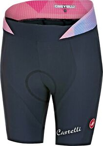 """Castelli Alba Women's Cycling Shorts Navy/Pink Size Small """"Super Cute"""""""