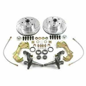 62-67 Chevy II Nova Stock Height Front Disc Brake Conversion Kit Fit Wilwood D52