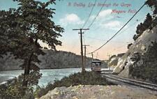 NY, New York     TROLLEY LINE THROUGH THE GORGE      c1910's Postcard
