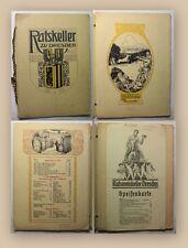 Weinkarte & Speisekarte Ratskeller zu Dresden um 1920 Gastronomie Gaststätte xy