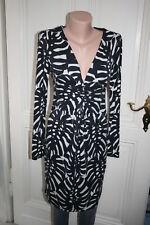 TORY BURCH  Stretch Kleid schwarz weiß Seide guter Zustand  in Gr. M  36/38