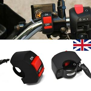 UK 22mm Handlebar On Off Kill Switch Light Button Electric Bike Motorcycle Ebike