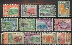 Dominica 1951 George VI set SG 120-134 used A078 *COMBINED POSTAGE*