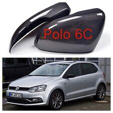 VW Polo 6C Real Carbon Fibre Mirror Full Replacements 2014-2016 UK SELLER