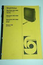 Bang & Olufsen Beovision MX 3000 / MX 4500 / MX 5000 / Nicam728 Service Manual