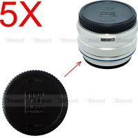 5x Rear Lens Cap Cover for Panasonic Micro 4/3 Four Thirds H-HS H-X H-F series