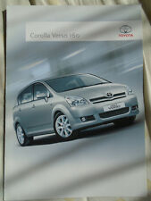 Toyota Corolla Verso 160 brochure Jun 2006 South African market