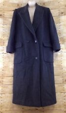 Vtg Calvin Klein Wool Trench Coat Womens Size 12 Gray Double Breasted 90s USA