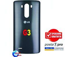 LG G3 D855 Ricambio Back cover posteriore copri batteria Scocca Nera Sped Pro 1