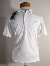 NWT Under Armour Boys UA Tour Polo Shirt YLG White MSRP$40