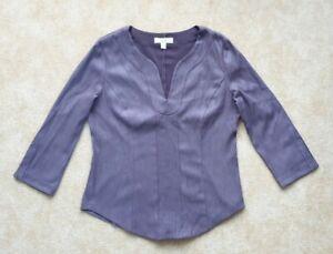 🌺 Next purple velour look V neck top 14