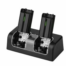 Dual Charger Dock Station 2x 2800mAh Rechargeable Battery for Wii Remote Control