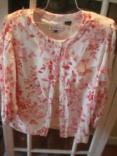 Vintage 70's 80's Peters & Ashley Small Sz 14 Red White Toile Like Design Blouse