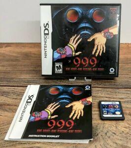 999: Nine Hours, Nine Persons, Nine Doors Nintendo DS Complete NTSC Ultra Rare
