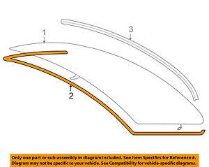 GENUINE BMW E90 3-Series Rear Glass Window Moulding Trim Seal OEM 51317061970