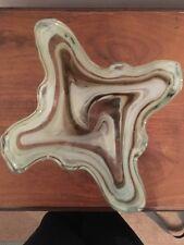 Murano brown swirled Vase with swan head
