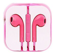 New Light Pink Colour Headphones Earphone Handsfree With Mic For iPhone Models