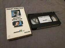 """K7 Cassette VHS """"Philips Demo Film 100 Hertz Digital Scan Matchline"""""""