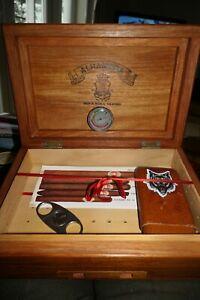 Cigar Humidor Alhambra Philippines Cedar Wood Box - Gauge + Cigar Cutter & Case