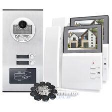 "Ingresso porta VIDEO INTERFONO CON MONITOR LCD 4.3"" RFID keyforbs per 2 appartamenti"