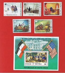 Burkina Faso #365-367-C209-10-367a VF used & MNH American Bicentennial