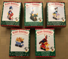 1998 Hallmark Disney Mickey Express Train Set Merry Miniatures 5 Pieces Complete