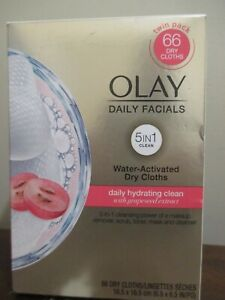 Olay Daily Facials 5 in 1 Clean Water Activated Dry Cloths Ladies Women's