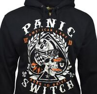 Mens Sweater Hoodie PANIC SWITCH NASCAR RACING Born To Drive Skull Hooded NEW