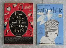 2 Vtg Hat Making Books Mod Bangle Crochet Patterns How to Make Pillbox Sailor +