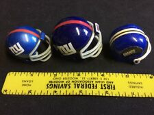 3 NEW YORK GIANTS  FOOTBALL HELMETS NFL MINI GUMBALL HELMETS
