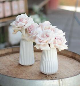 ESKO Vasen-Set, 2-tlg. weiss matt aus Porzellan Tischdeko