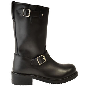 Oxford Apache Motorcycle Boots - Black