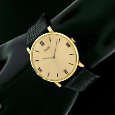 Vintage Piaget 18k Yellow Gold 32mm Round Thin Mechanical Wrist Watch 912157991