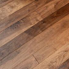 """4-1/4"""" UV Oiled Walnut Hand Scraped Solid Engineered Wood Flooring Sample"""