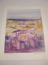 "WILLY MUCHA Lithograph Print ""CINCINNATI"" Phelps Dodge American Cities Series"